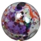 12mm Halloween Splattered AB Finish Miracle Acrylic Bubblegum Bead