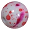 12mm Valentine Splattered AB Finish Miracle Acrylic Bubblegum Bead