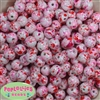 12mm Valentine Splatter Acrylic Bubblegum Beads sold in packages of 40 beads