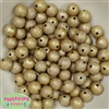 12mm Gold Stardust Bubblegum Beads
