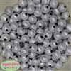 12mm Silver Stardust Acrylic Bubblegum Beads