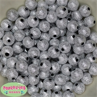 12mm Silver Stardust Beads 40 pc