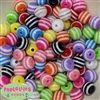 12mm Mix Color Stripe Bubblegum Beads 100 beads