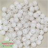 12mm White Stripe Bubblegum Beads