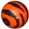 12mm Orange Zebra Print Bead