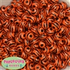 12mm Orange Zebra Print Resin Bubblegum Beads