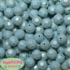 14mm Baby Blue Faceted Acrylic Bubblegum Beads