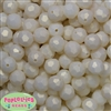 14mm Cream Faceted Acrylic Bubblegum Beads