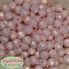 14mm Pastel Pink Faceted Acrylic Bubblegum Beads