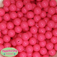14mm Neon Hot Pink Bubblegum Beads