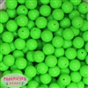 14mm Neon Lime Green Solid Acrylic Beads