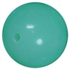 14mm Neon Mint Green Solid Acrylic Bead