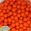 14mm Neon Orange Acrylic Beads
