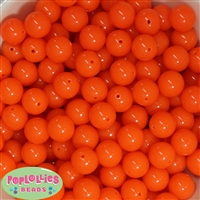 14mm Neon Orange Acrylic Bubblegum beads