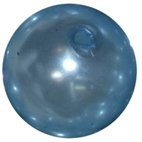14mm Baby Blue Faux Pearl Bubblegum Bead