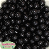 14mm Black Faux Pearl Bubblegum Beads