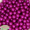 14mm Bright Pink Faux Pearl Bubblegum Beads
