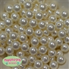 14mm Cream Faux Pearl Acrylic Beads