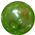 14mm Lime Green Faux Pearl Bubblegum Beads
