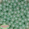 14mm Mint Faux Pearl Acrylic Beads