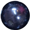 14mm Navy Blue Faux Pearl Bubblegum Beads