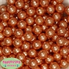 14mm Orange Faux Pearl Bubblegum Beads