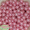 14mm Pink Faux Pearl Acrylic Beads