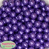 14mm Purple Faux Pearl Acrylic Beads