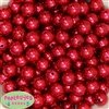 14mm Red Faux Pearl Bubblegum Beads