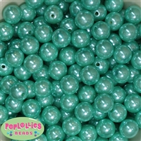 14mm Turquoise Faux Pearl Acrylic Beads