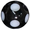 14mm Black Polka Dot Acrylic Bubblegum Bead