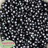 14mm Black Polka Dot Bubblegum Beads