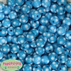14mm Cyan Blue Polka Dot Bubblegum Beads
