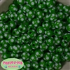 14mm Green Polka Dot Acrylic Bubblegum Beads