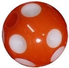 14mm Orange Polka Dot Acrylic Bubblegum Bead