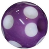 14mm Purple Polka Dot Acrylic Bubblegum Beads