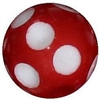 14mm Red Polka Dot Acrylic Bubblegum Bead