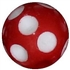 14mm Red Polka Dot Acrylic Bubblegum Beads