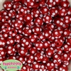 14mm Red Polka Dot Bubblegum Beads