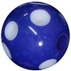 14mm Royal Blue Polka Dot Acrylic Bubblegum Bead