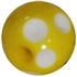 14mm Yellow Polka Dot