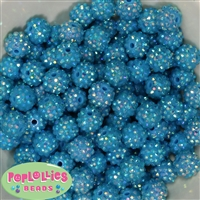 Bulk 14mm Blue Rhinestone Beads