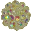 14mm Clear Rhinestone Bubblegum Beads