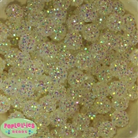 14mm Clear Rhinestone Bubblegum Beads Bulk