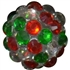 14mm Christmas Confetti Rhinestone Beads