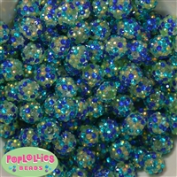 14mm Under the Sea Confetti Rhinestone Bubblegum Bead Bulk