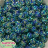 14mm Under the Sea Confetti Rhinestone Bubblegum Bead