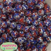 14mm USA Confetti Resin Rhinestone Bubblegum Bead