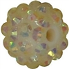 14mm Cream Rhinestone Bubblegum Beads