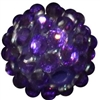 14mm Deep Purple Rhinestone Bubblegum Beads